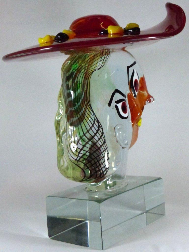 WALTER FURLAN PICASSO MURANO GLASS SCULPTURE - 5