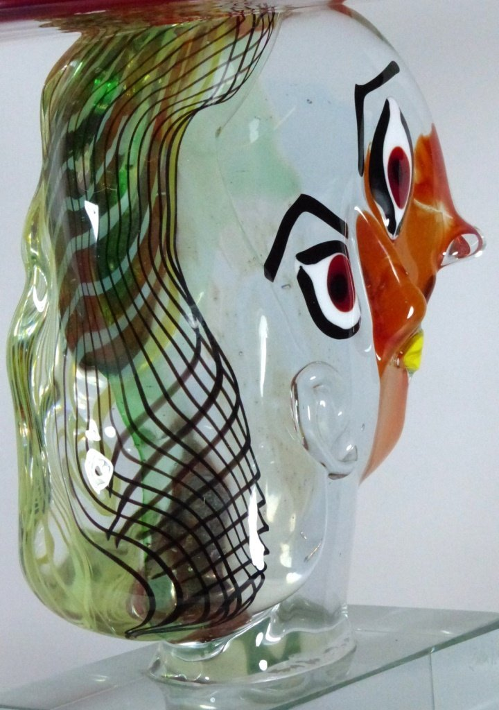 WALTER FURLAN PICASSO MURANO GLASS SCULPTURE - 6