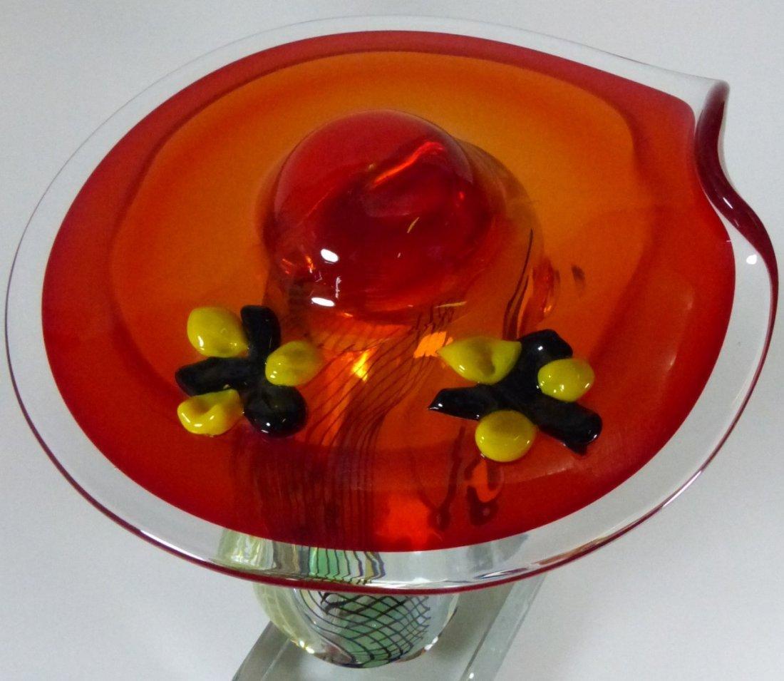 WALTER FURLAN PICASSO MURANO GLASS SCULPTURE - 7