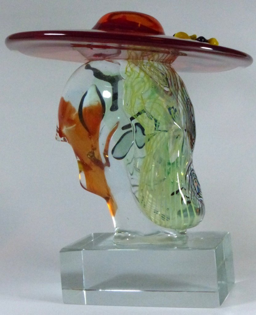 WALTER FURLAN PICASSO MURANO GLASS SCULPTURE - 9