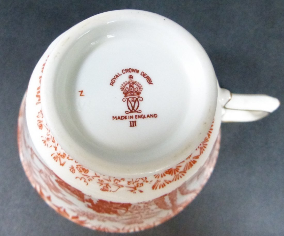 "20pc ROYAL CROWN DERBY ENGLISH ""RED MIKADO"" CHINA - 5"