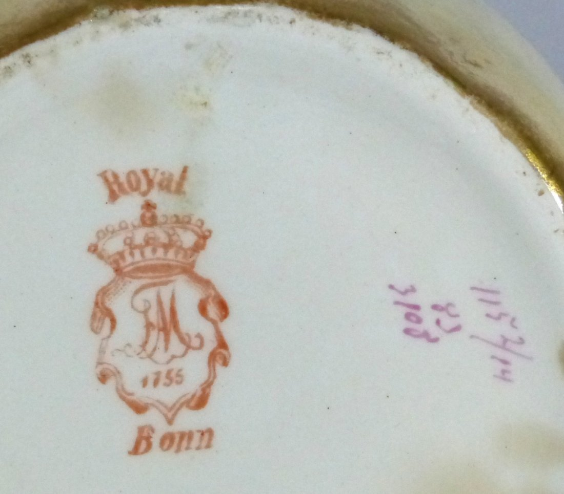 ROYAL BONN ANTIQUE PORCELAIN LIDDED JAR - 10
