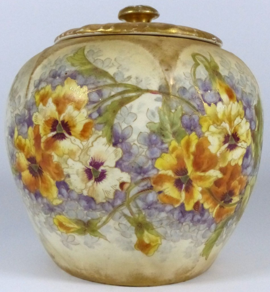 ROYAL BONN ANTIQUE PORCELAIN LIDDED JAR