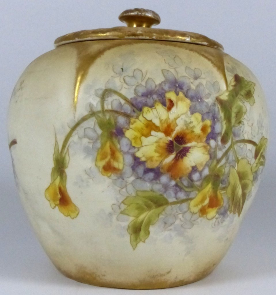 ROYAL BONN ANTIQUE PORCELAIN LIDDED JAR - 3