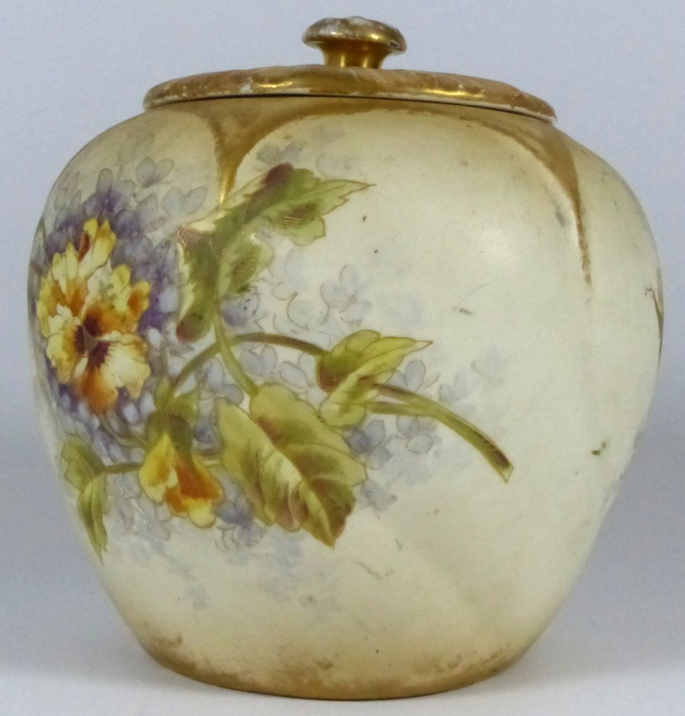 ROYAL BONN ANTIQUE PORCELAIN LIDDED JAR - 4