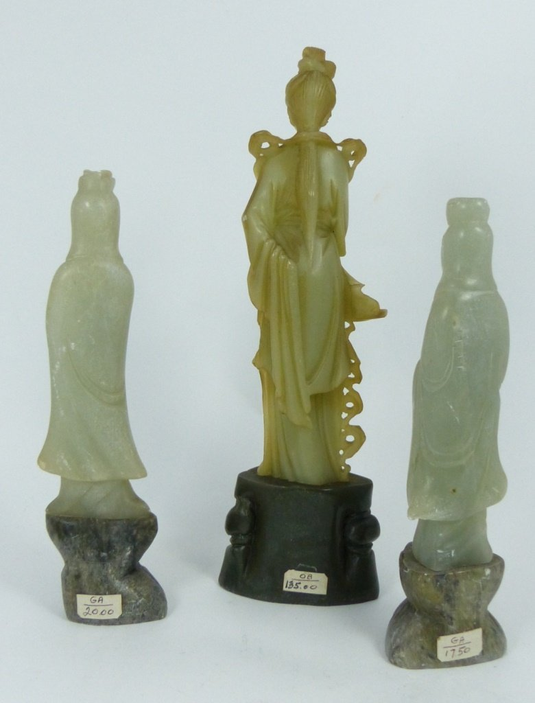 9pc CHINESE SOAPSTONE CARVINGS - 3