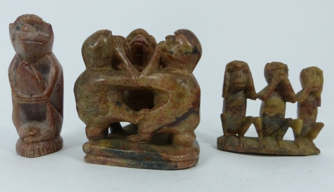 9pc CHINESE SOAPSTONE CARVINGS - 4
