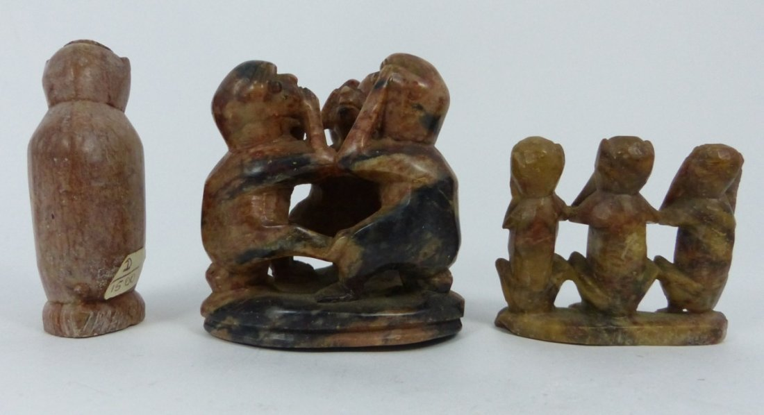 9pc CHINESE SOAPSTONE CARVINGS - 5