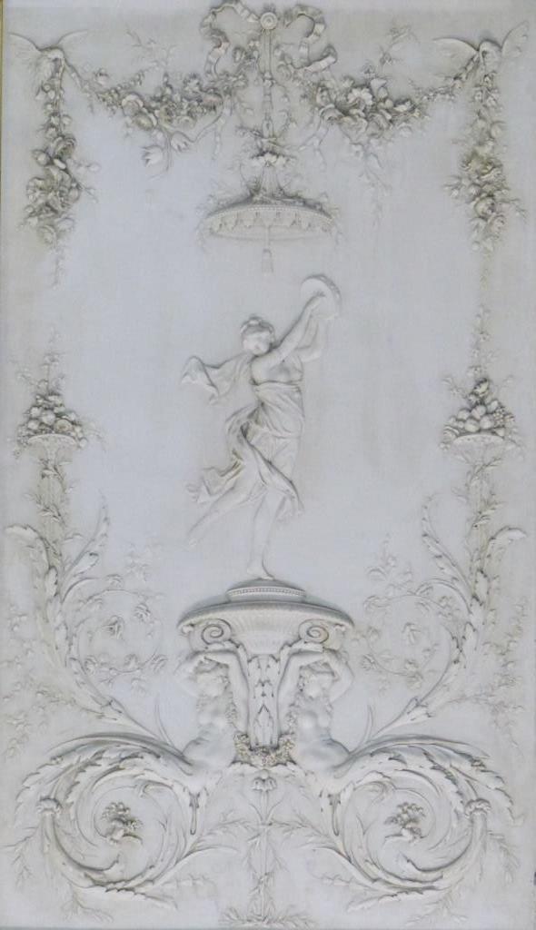 CONTINENTAL MARBLE RELIEF PLAQUE w ROMAN SCENE - 2
