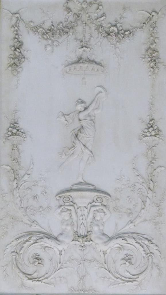 CONTINENTAL MARBLE RELIEF PLAQUE w ROMAN SCENE - 3