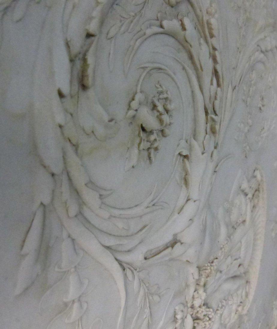 CONTINENTAL MARBLE RELIEF PLAQUE w ROMAN SCENE - 7