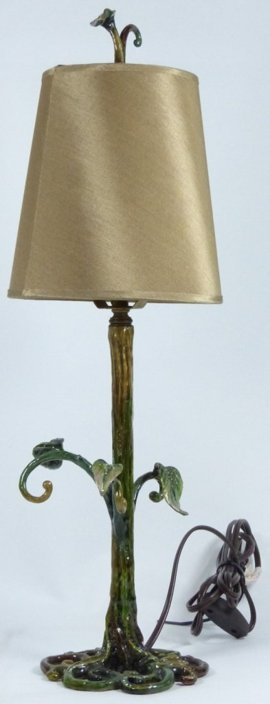 JAY STRONGWATER ENAMELED TABLE LAMP