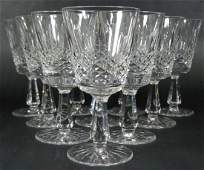 10pc WATERFORD KENMARE CUT CRYSTAL WATER GOBLETS