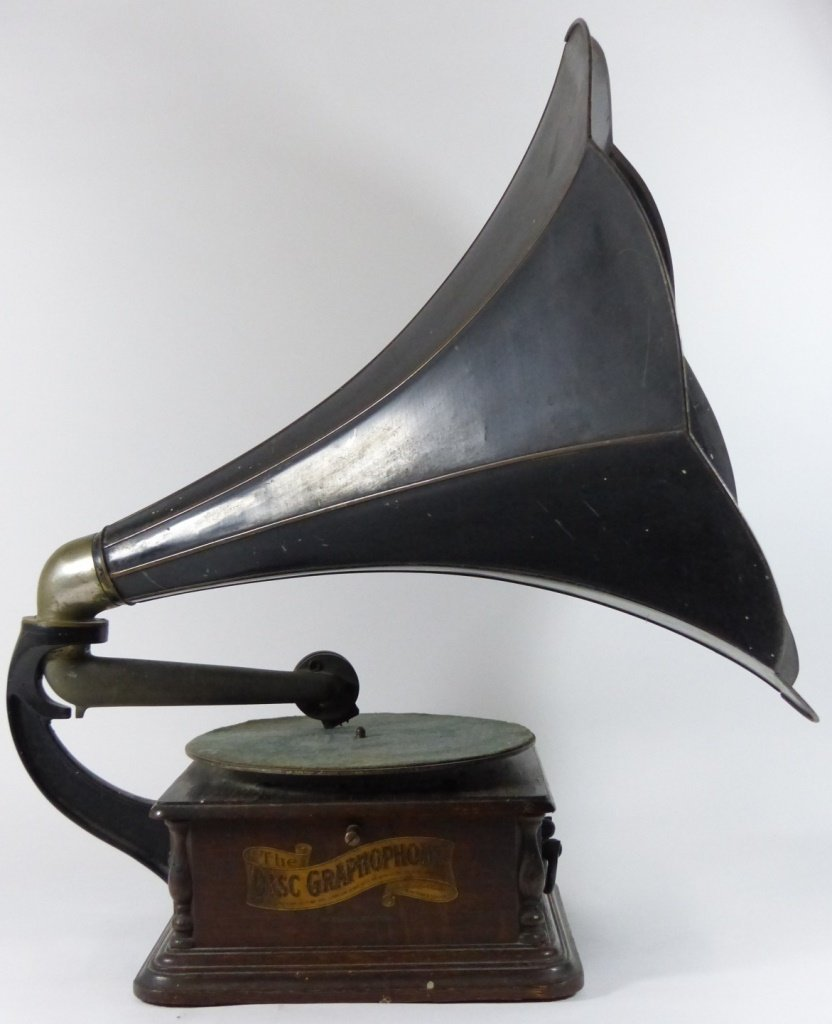 ANTIQUE COLUMBIA DISC GRAPHOPHONE BH STYLE