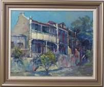 WILLIAM GRUNSTEIN HOUSE IN GLEBE OIL ON BOARD