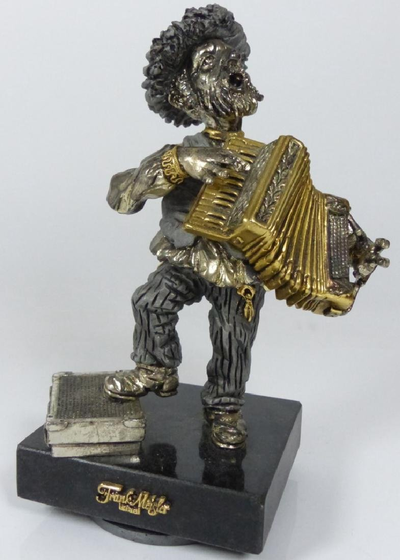 FRANK MEISLER SCULPTURE OF MAN w PIANO ACCORDION