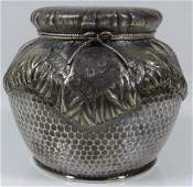 GORHAM STERLING SILVER HAND HAMMERED TEA CADDY