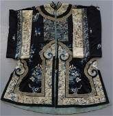 FINE CHINESE EMBROIDERED SILK ROBE
