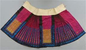 CHINESE LADY'S EMBROIDERED SILK FLORAL SKIRT