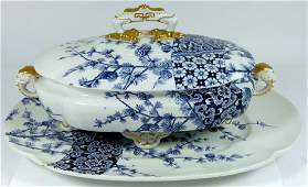 ROYAL WORCESTER LIDDED TUREEN w UNDERPLATE