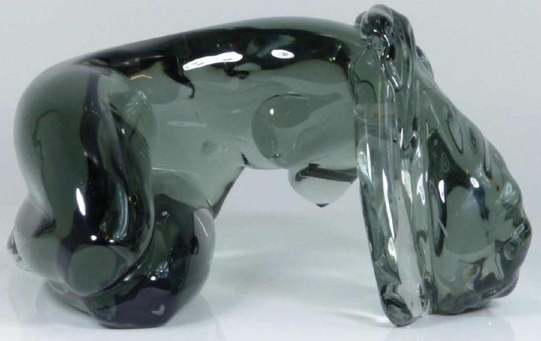 LOREDANO ROSIN MURANO GLASS SCULPTURE OF NUDE