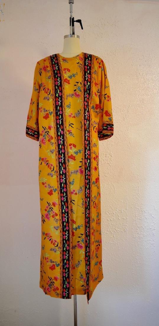 Vintage 1970s Floral Wrap Dress