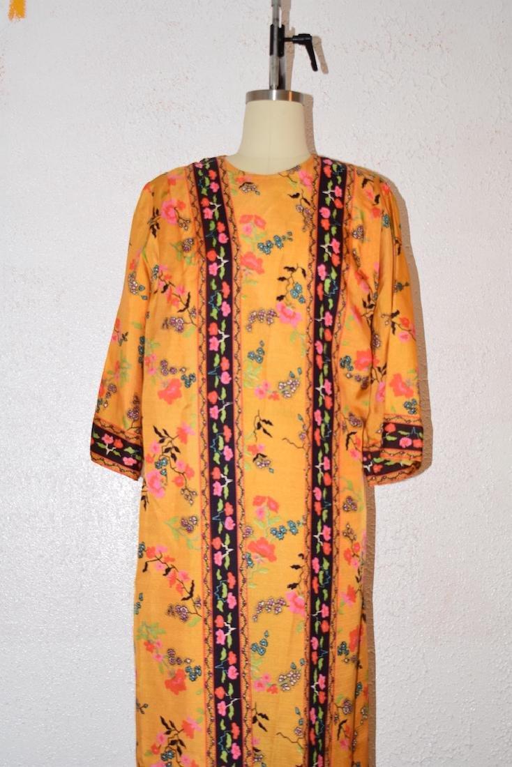 Vintage 1970s Floral Wrap Dress - 2