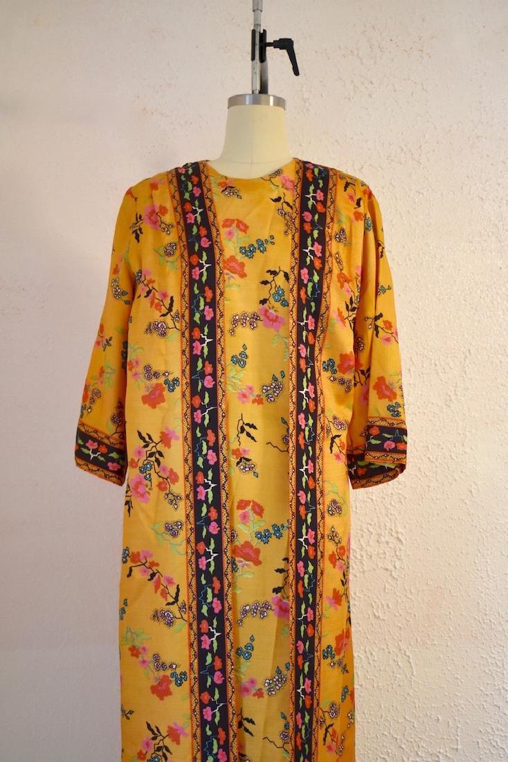 Vintage 1970s Floral Wrap Dress - 3