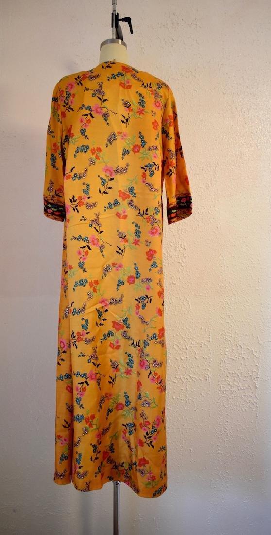 Vintage 1970s Floral Wrap Dress - 4