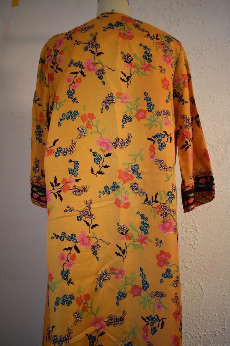 Vintage 1970s Floral Wrap Dress - 5