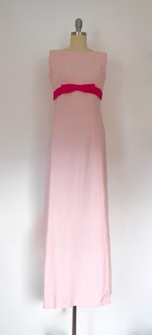 Vintage 1970s Mildred S Welch Pink Dress