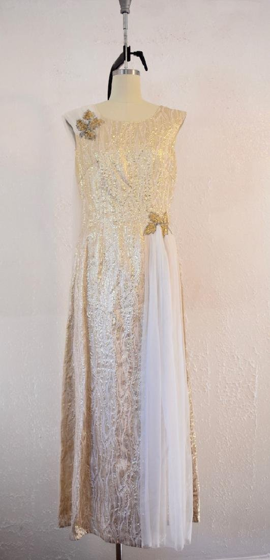 Vintage 1950s Gold Sequin Anne Shoppe Gown