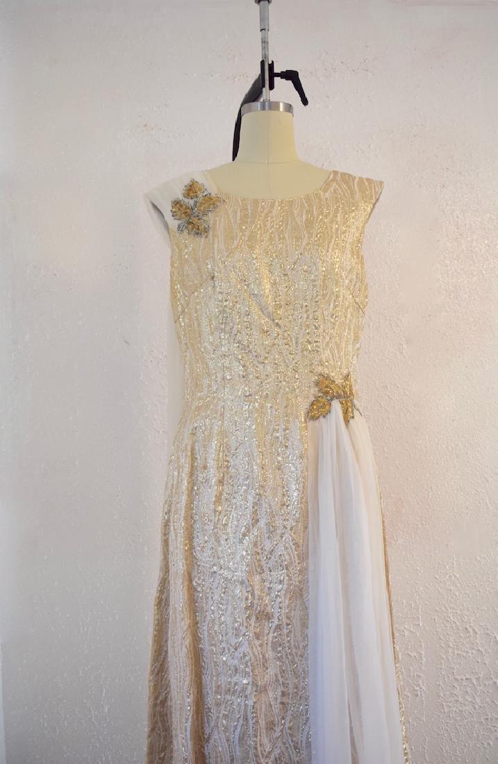 Vintage 1950s Gold Sequin Anne Shoppe Gown - 2