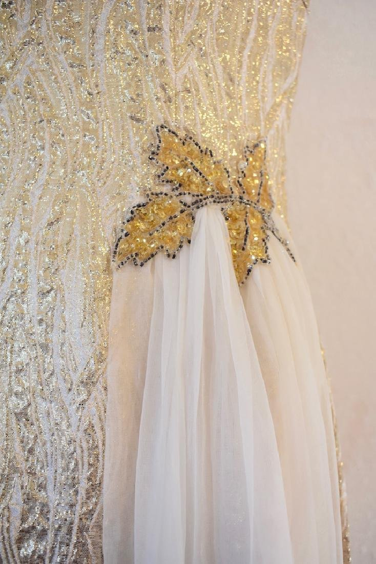 Vintage 1950s Gold Sequin Anne Shoppe Gown - 3