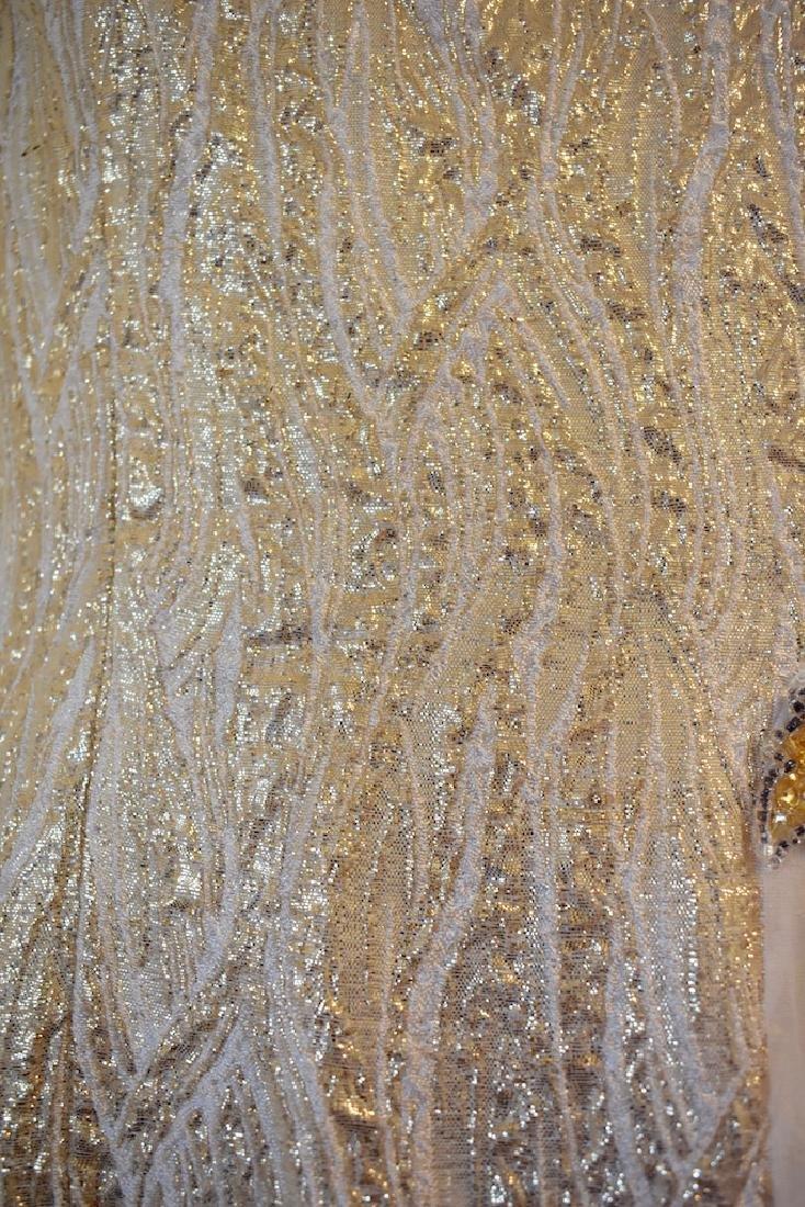 Vintage 1950s Gold Sequin Anne Shoppe Gown - 4