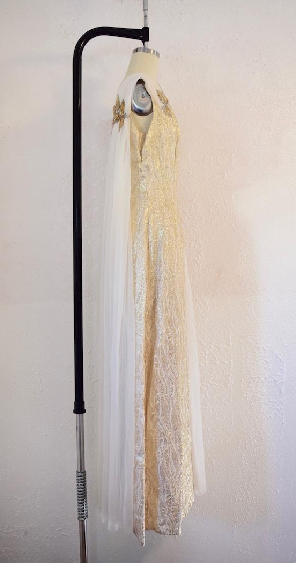 Vintage 1950s Gold Sequin Anne Shoppe Gown - 5