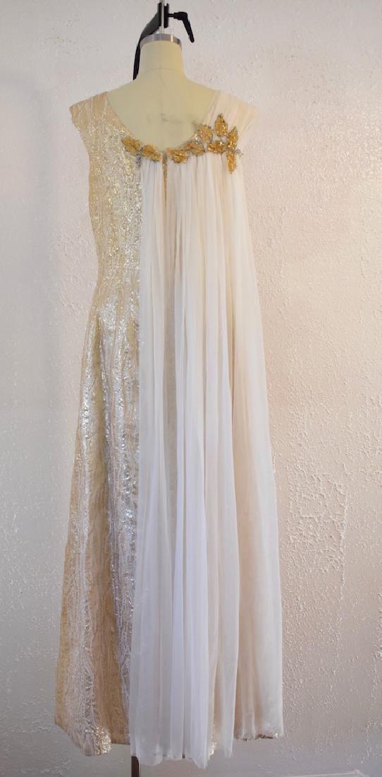 Vintage 1950s Gold Sequin Anne Shoppe Gown - 6
