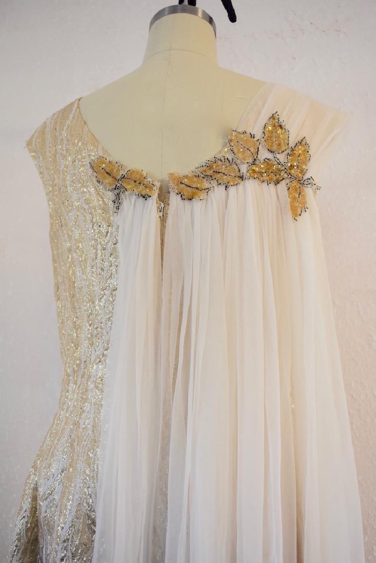 Vintage 1950s Gold Sequin Anne Shoppe Gown - 7