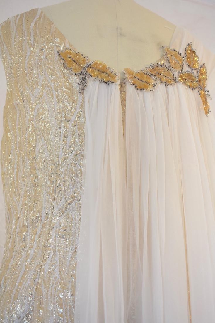 Vintage 1950s Gold Sequin Anne Shoppe Gown - 8