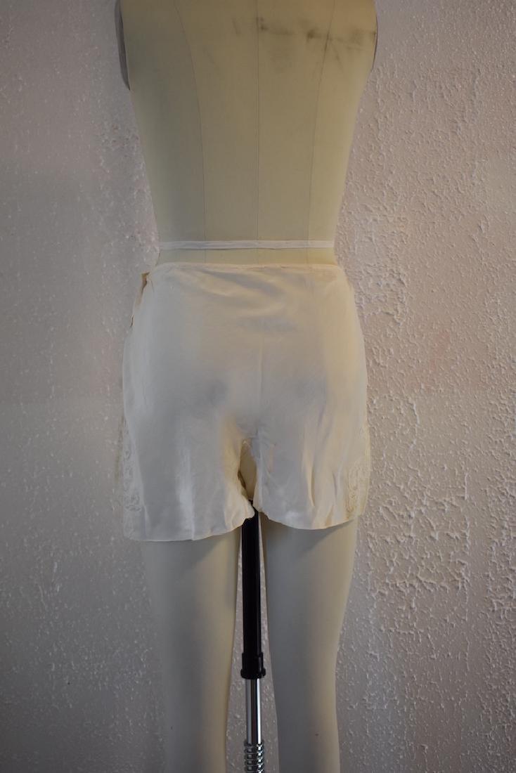Vintage Silk Lace Ivory Undies - 5