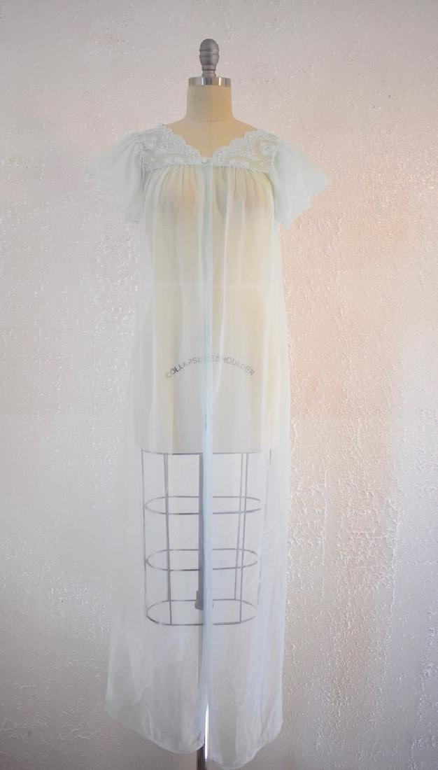 Vintage 1960s Gilead Baby Blue Nightgown Top
