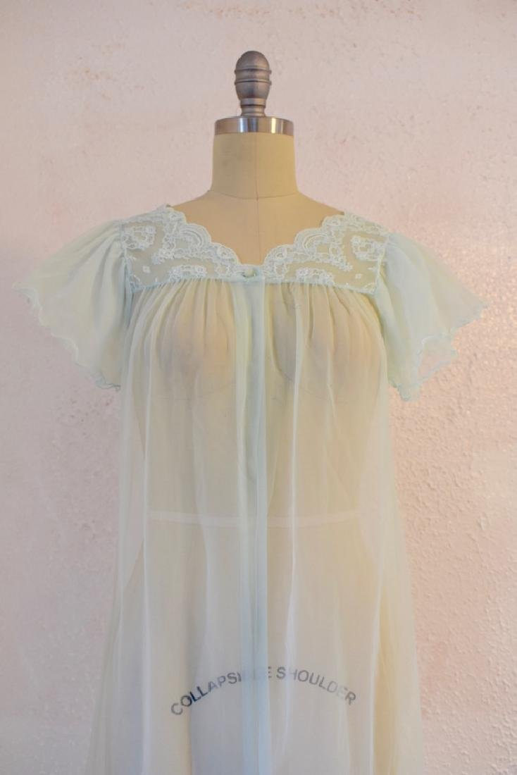 Vintage 1960s Gilead Baby Blue Nightgown Top - 2