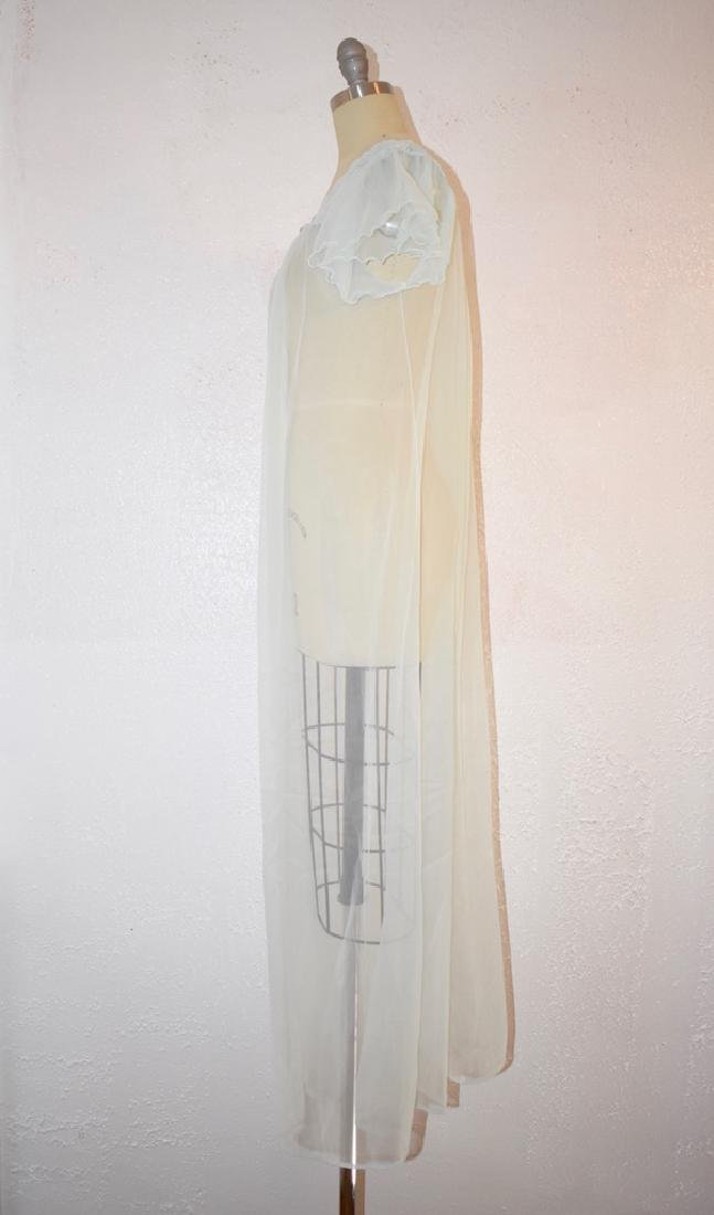 Vintage 1960s Gilead Baby Blue Nightgown Top - 3