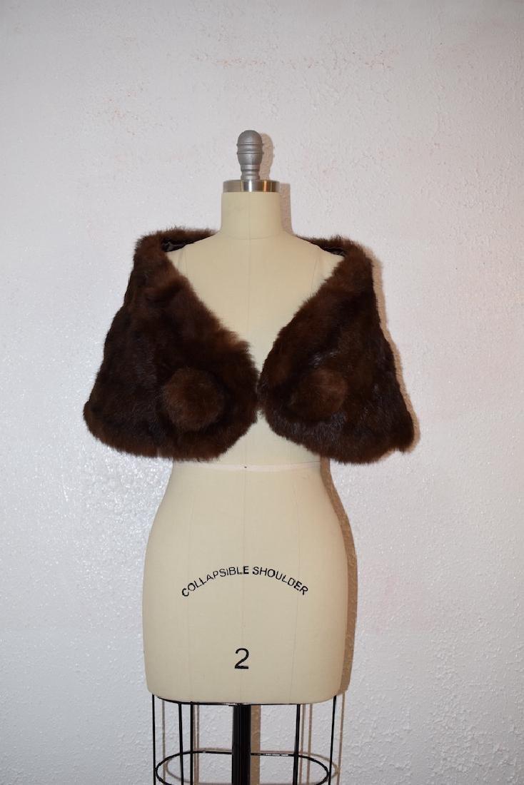 Vintage Faux Fur Cape - 2