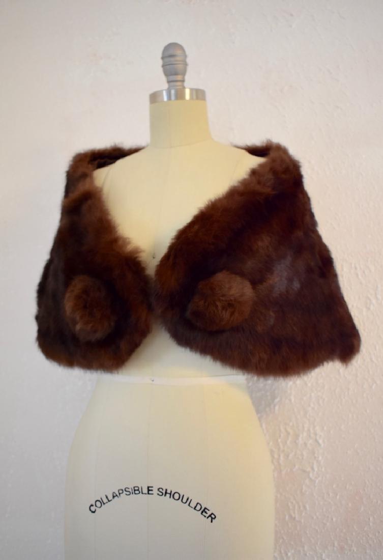Vintage Faux Fur Cape - 3