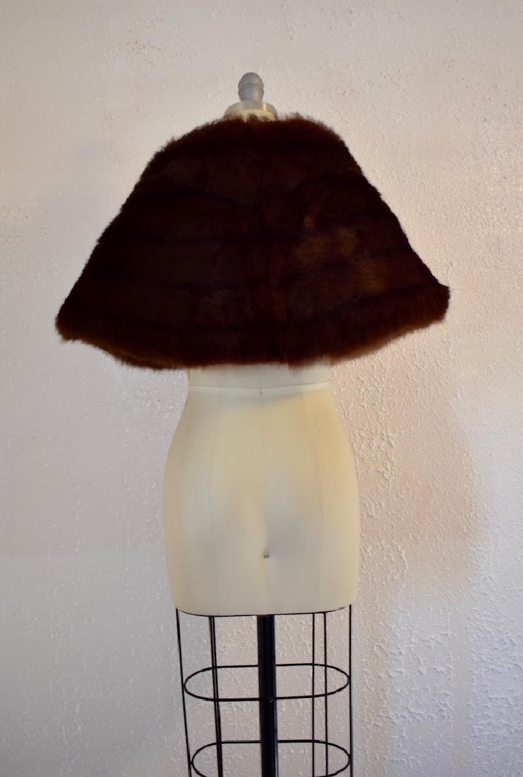 Vintage Faux Fur Cape - 5