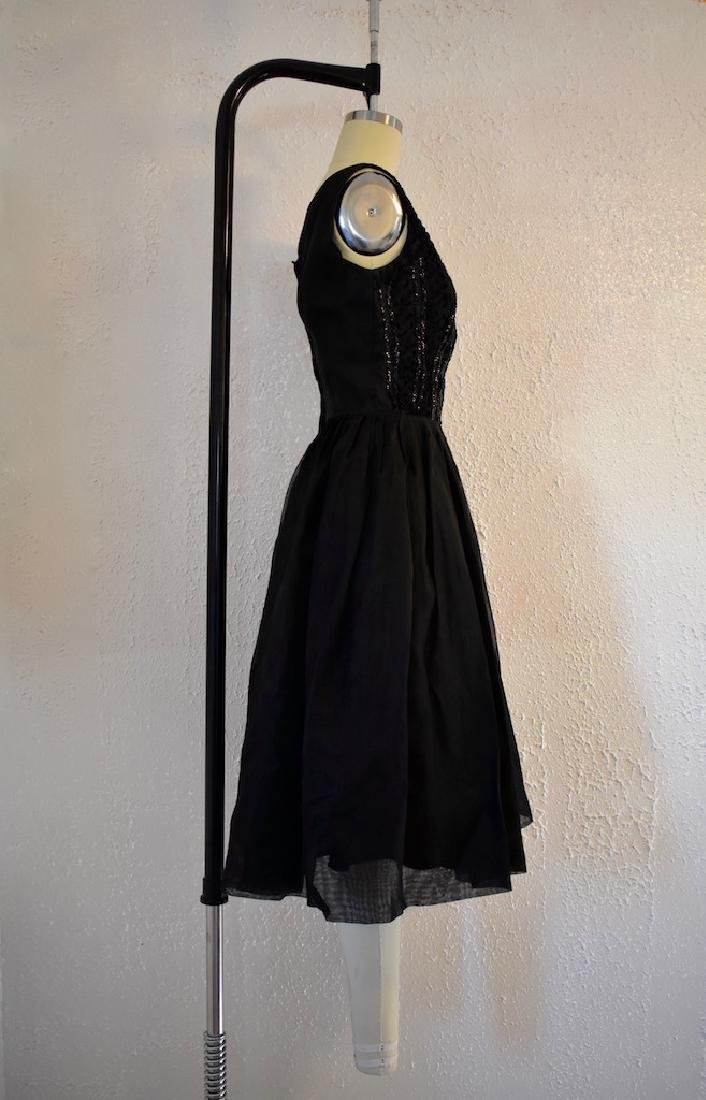 1960s Elinor Gay Original Black Sequin Day Dress - 3