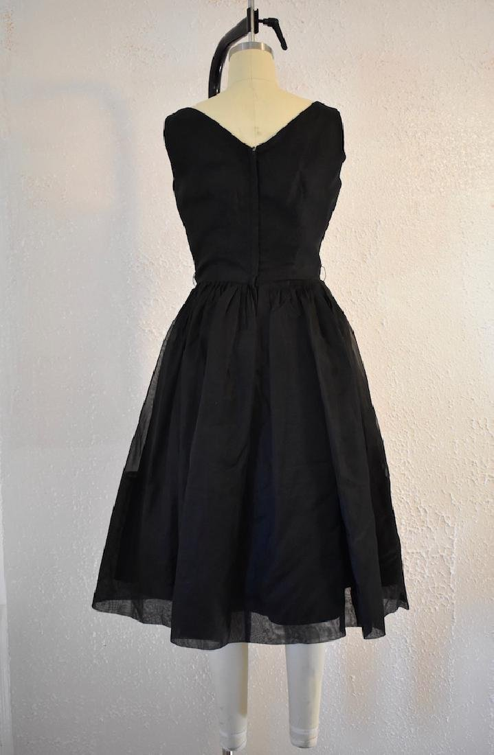 1960s Elinor Gay Original Black Sequin Day Dress - 4