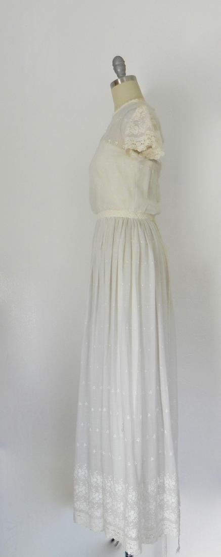Vintage 1970s Neiman Marcus White Ivory Lace Cotton - 3