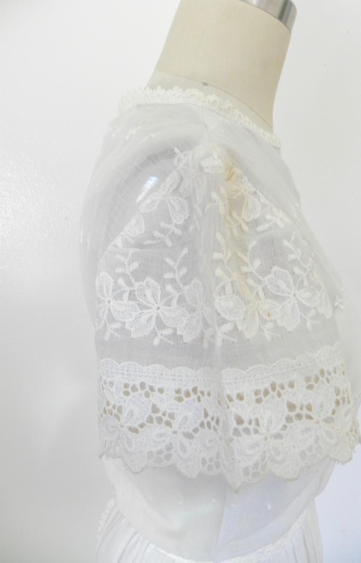 Vintage 1970s Neiman Marcus White Ivory Lace Cotton - 5